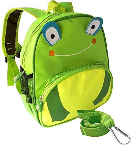 3d Main Gear (3D Frog Toddler Safety Harness +Detachable Leash Backpack by Boxiki Kids. Little Kids Anti-Lost Backpack. Lightweight Animal Backpack for Kids. Small backpack for kids with Toddler Harness)