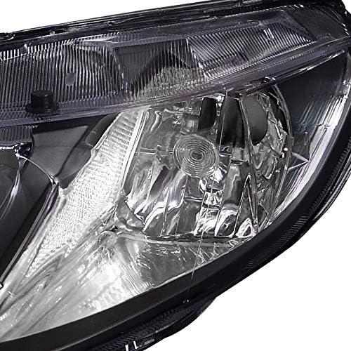 Fit 06-11 Civic Sedan 4Dr Si EX LX DX GX Smoke Head Light Lamp+LED Fog Lights