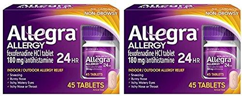 [알레그라] Allegra Adult 24 Hour Allergy Tablets, 180Mg, Buy Bulk & Save, 90 Count [비염 알레르기]