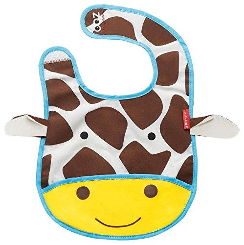 Skip Hop Zoo Little Kid and Toddler Tuck-Away Water Resistant Baby Bib, 6 Months +, Multi Jules Giraffe