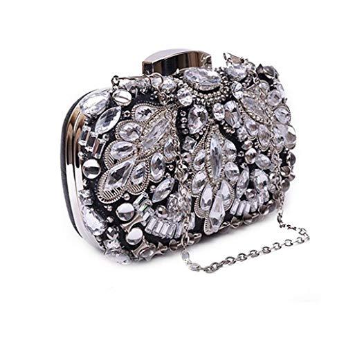 Banquet oro Lady grow unica colore Clutch sposa da signora Borsa taglia Soft Bag Nero Sky per d8W7xAwgqq