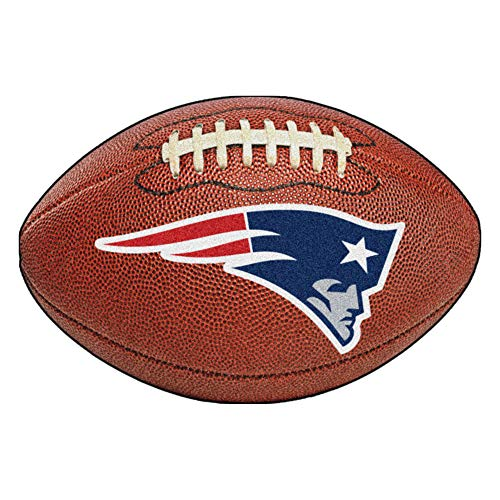 FANMATS NFL New England Patriots Nylon Face Football Rug