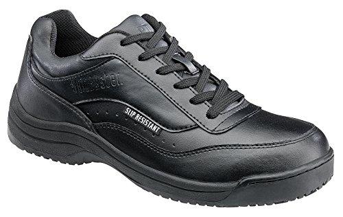 Clogs Slip Athletic (Skidbuster 5070 Men's Leather Slip Resistant Athletic Shoe,Black,10.5 W US)