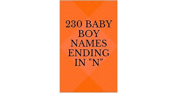 230 Baby Boy Names Ending in N