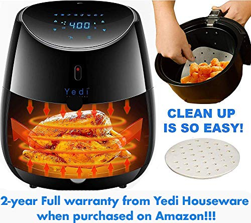 Yedi Total Package Air Fryer XL, 100 Recipes, Deluxe Accessory Kit, 2 Year Warranty, 5.8 Quart