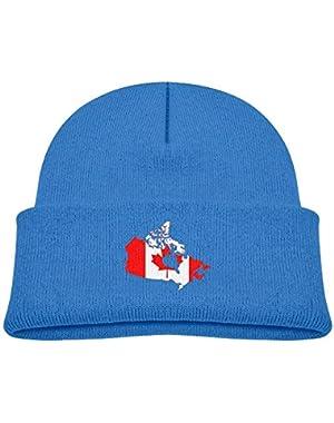 Cute Canada Map Printed Teething Baby Winter Hat Beanie