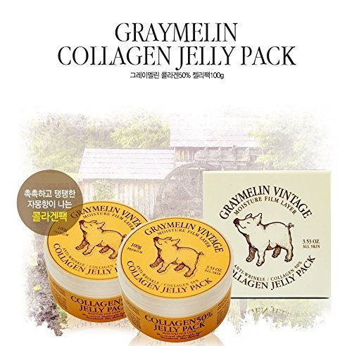 GRAYMELIN VINTAGE COLLAGEN 50% JELLY PACK, Korean cosmetics, Korean beauty, Kpop style (Collagen Jelly Pack Mask compare prices)