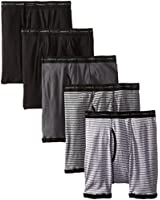 Hanes Men's 5-Pack Sports-Inspired Stripe Ringer Boxer Brief