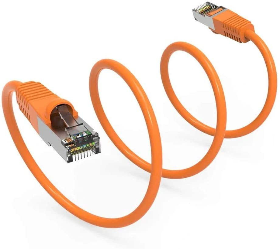 Internet Cable Snagless Boot Network Wire Cat5e Shielded Ethernet Patch Cable Long Ethernet Wire High Speed Ethernet Patch Cable 350MHz FTP Cord