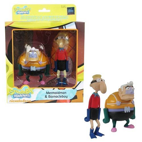 SpongeBob SquarePants Mermaidman & Barnacleboy Mini-Figures