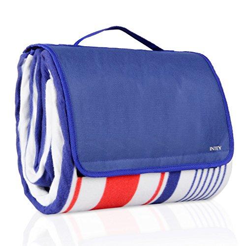 INTEY Tapis de Pique-nique/Couverture de Pique-nique Etanche Large Portable Confortable pour le Camping, le Voyage, les Pique-niques, la Randonnée, la Plage