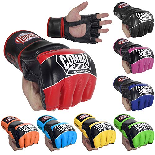 Combat Sports Pro Style MMA Muay Thai Grappling Training Sparring Half Mitts Gloves from Combat Sports