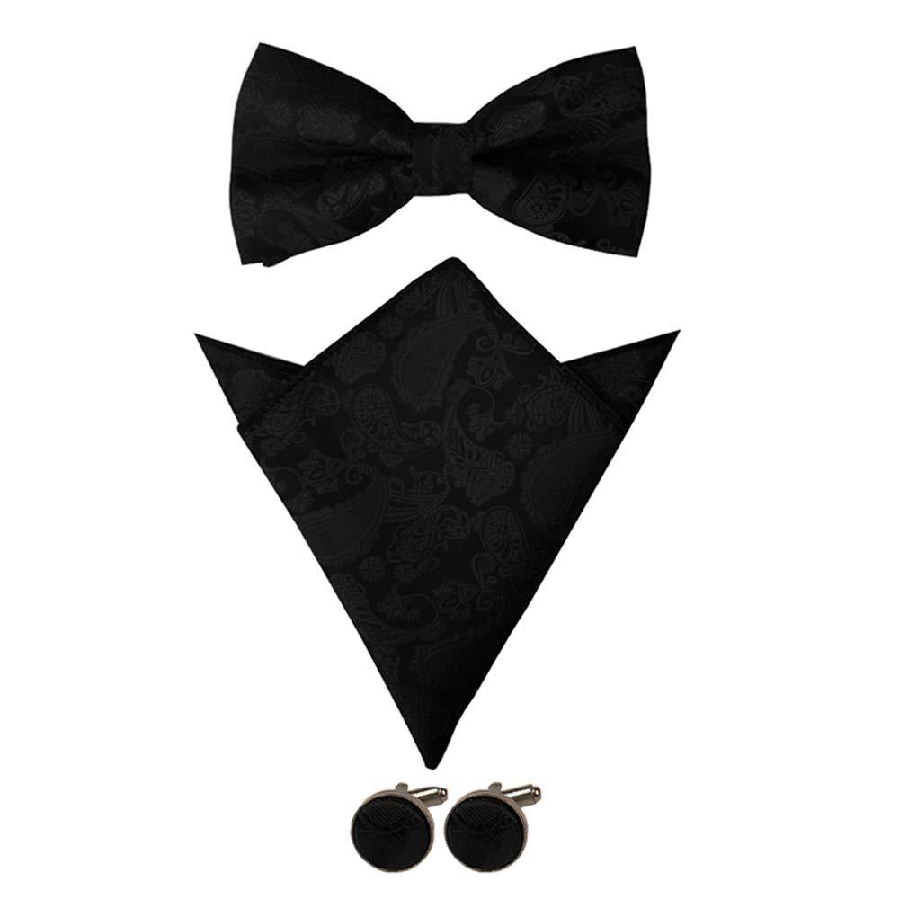 Aissy Bretelle uomo 3.5 cm a forma di Y regolabili Heavy Duty uomini Bretelle Bretelle con Papillon Pocket Square e Gemello
