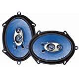 Pyle PL573BL 5-Inchx7-Inch and 6-Inchx8-Inch 300W Three-Way Speakers
