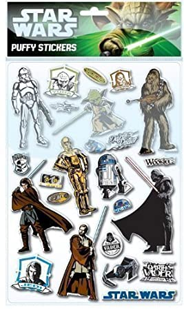 Pegatinas para niños de Star Wars en relieve Darth Vader ...