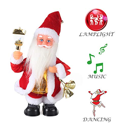 Claus Doll Vintage Santa - ElementDigital Christmas Dolls, 2018 Christmas Electric Vintage Animated Saxophone Dancing Music Santa Claus Doll Christmas Decorations Home Xmas Gift Kids (Santa + Lantern)