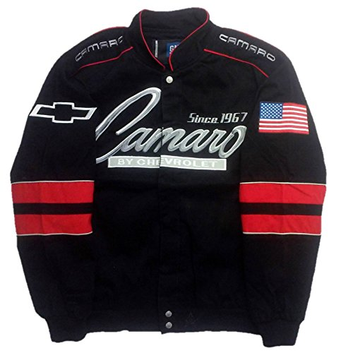 J.H. Design JH Design Chevy Camaro Cotton Twill Jacket, XXX-Large, Black by J.H. Design (Image #2)