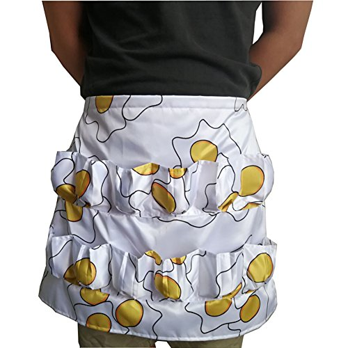 Chicken Egg Apron, 12 Pockets Fashion Egg Holding Apron, Soft Cotton Workwear for Gathering Collecting Eggs, Garden Apron for Farmer Housewife ()