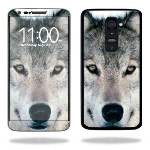 Mightyskins Protective Vinyl Skin Decal Cover for LG G2 T-Mobile wrap sticker skins Wolf