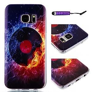 Galaxy S7 Edge Funda Case, Moonmini® Ultra Delgado Delgada Material De TPU Cubierta Del Caso para Samsung Galaxy S7 Edge - rojo del globo del ojo