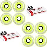 Labeda Millennium Gripper Yellow Hockey Inline Wheels 80mm X-Soft 8 Pack Swiss