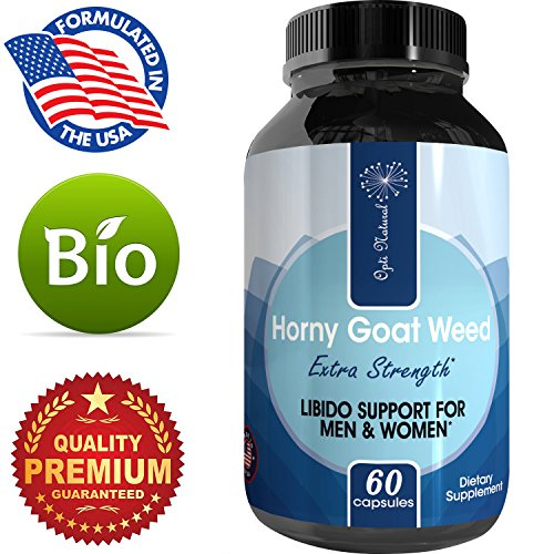 Pure Horny Goat Weed Extract with Maca Powder – Energy Support – Helps Increase Drive & Stamina – Natural Supplement for Men and Women – Tongkat Ali + L-Arginine – 60 Capsules – By Opti Natural