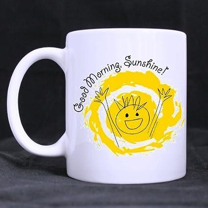 Amazoncom Funny Romantic Good Morning Sunshine White Ceramic