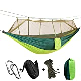 Features: Easy fixing, just fix the hammock with 2 binding strings and tie the strings to trees or poles Easy to carry and pack with the same color sack.  Spacious designs you'll have everything you need to relax in comfort for one or two on your tri...