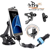 iBOLT mProNFC Combo Car Dock / Mount for Android phones- 3 mounts (suction cup mount, vent mount , and mini mount), a 2m microUSB Cable, and a 3.1 Amp triple USB port car charger- Galaxy S6 / S7