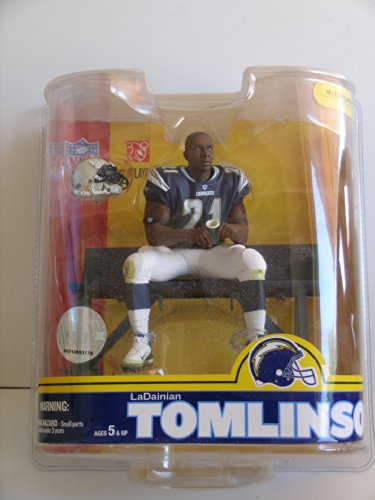 Chargers San Uniform Diego (McFarlane NFL Series 16: LaDanian Tomlinson 4 - San Diego Chargers- Blue Jersey)