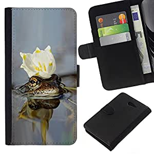 All Phone Most Case / Oferta Especial Cáscara Funda de cuero Monedero Cubierta de proteccion Caso / Wallet Case for Sony Xperia M2 // cvetok korona voda