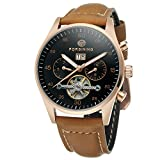 Forsining Men's Automatic Self-winding Day Calendar Leather Brand Collection Wrist Watch FSG691M3B1