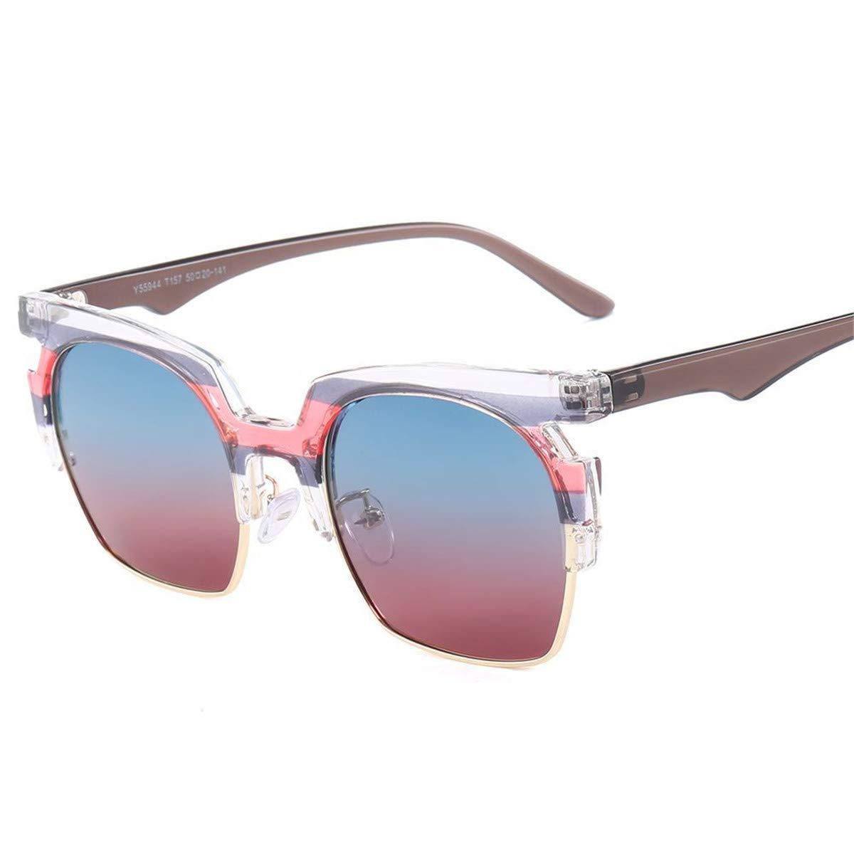 KOMNY Moda Gafas de Sol polarizadas Hombres Mujeres Conducción Gafas de Sol Male Square Glasses Polaroid UV400 zonnebril mannen G55944, E: Amazon.es: Hogar
