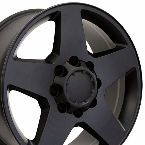 OE Wheels 20 Inch Fits Chevy 2500 3500 GMC 2500 3500 8x165.1 Heavy Duty Silverado Style CV91A Satin Black 20x8.5 Rim Hollander 5503