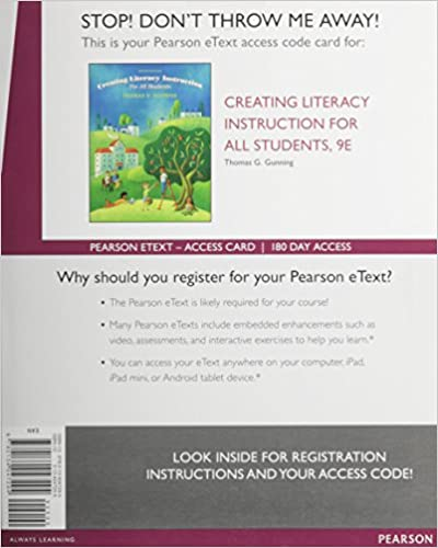 Amazon. Com: creating literacy instruction for all students (6th.