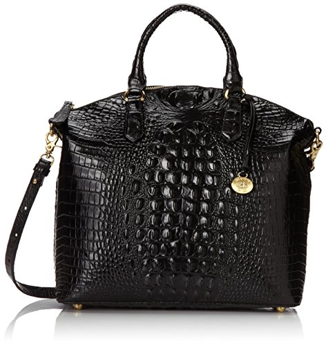 Brahmin Large Duxbury Satchel, Black, One Size by Brahmin