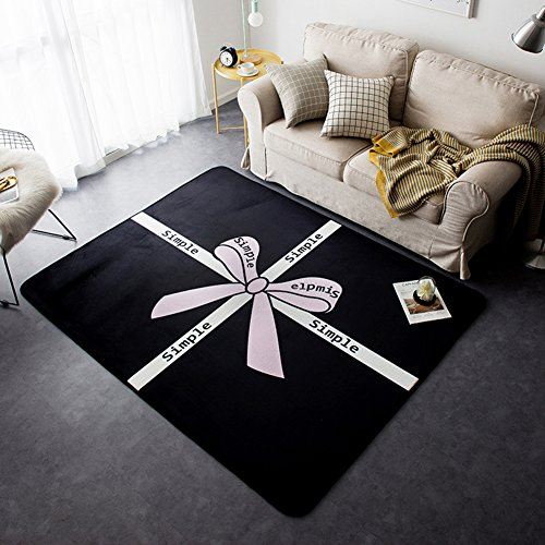 (Black Series Home Rugs Popular - Crystal Plush Ultra Soft Cartoon Anti-slipping Rugs Room Decoration 57 X 77 Inch)