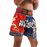 Zothai Kids Muay Thai Kickboxing 2 Tone Shorts MMA Fight Trunks Satin XXS - M
