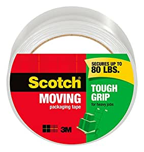 Scotch Tough Grip Moving Packaging Tape, Roll , 1.88 in x 54.6 y (3500)