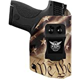We The People - IWB Holster Compatible with Taurus Millenium PT111 G2 / G2C 9MM Gun - Inside Waistband Concealed Carry Kydex Holster (Left Hand, Constitution)