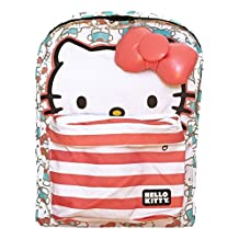Backpack - Hello Kitty - Half Face Faded Red Blue New Licensed sanbk0206