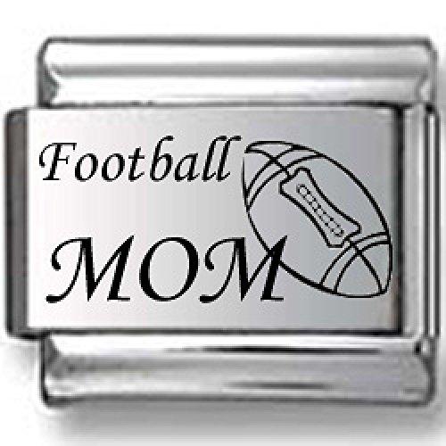 Football Mom Laser Italian Charm