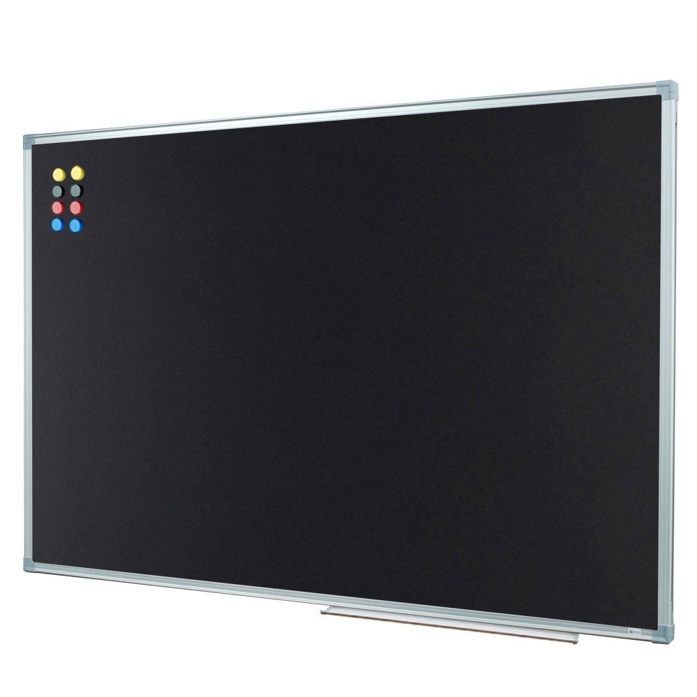 Lockways Magnetic Chalkboard 36 x 24 Inch Black Board, Bulletin Magnetic Blackboard 3 x 2, Silver Aluminium Frame by Lockways
