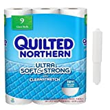 Quilted Northern Ultra Soft & Strong Bathroom Tissue, 2-Ply, (9 huge rolls, 300 sheets)