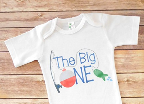 First Birthday Outfit - 12 to 18 Month - The Big One - Fishing Theme]()