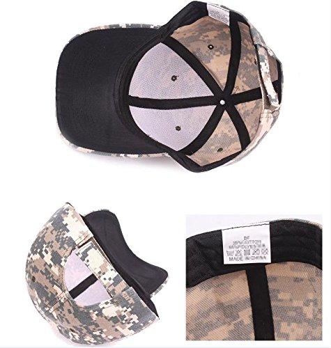 algodón cadete camuflaje gorras militar ejército de gorra ejército camuflaje lavado béisbol WeiMay capo xw7IqCO87