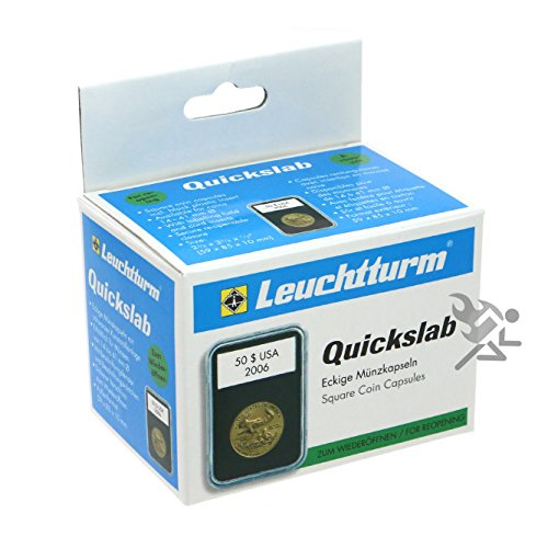 (5) Lighthouse Quickslab 20mm Coin Capsule Re-closable Slab for American