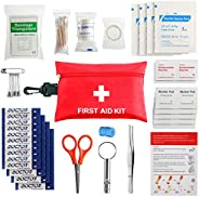 First Aid Kit (87pcs) Designed for Family Emergency Care. Ideal for Cars, Homes, Schools, Offices, Sports, Tra
