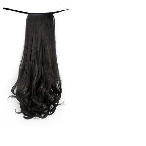 Longless Peluca cola rollo pera coleta peluca paquete femenino largo rizado pelo corto rollo cola de