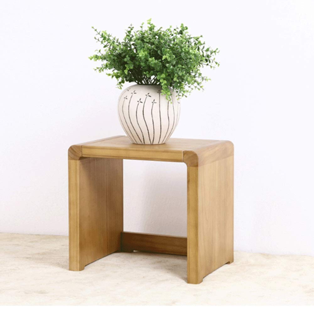 Cigkany-HO Stool Flower Pot Holder Square Stool Solid Wood Creative Shape Bench (Color : Figure 1, Size : 382935) by Cigkany-HO